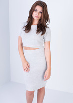 Missy Empire Julieta Grey Knitted Co-ord