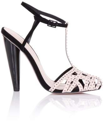 Little Mistress Footwear Cybele Black Embellished Round Toe Heels