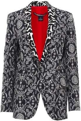 Pinko Patterned Single-Breasted Blazer
