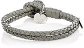 Bottega Veneta Men's Intrecciato Leather Double-Band Bracelet-LIGHT GREY