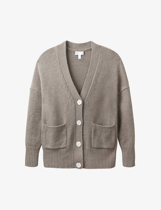 The White Company Boyfriend cotton-blend knitted cardigan