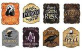 Martha Stewart 8 Halloween Beverage Labels Wine Bottle Glass Bar