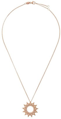 Roberto Coin 18kt rose gold Roman Barocco diamond and ruby pendant necklace
