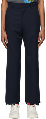 Ader Error Navy Wool Astro Cinder Trousers