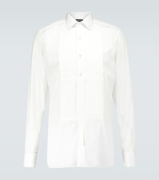Tom Ford Pleated long-sleeved shirt