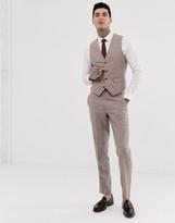 Harry Brown wedding wool blend slim fit summer tweed suit vest
