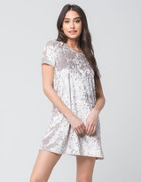 Full Tilt Velvet Tee Dress