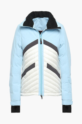 Perfect Moment Chevron Quilted Two-tone Hooded Down Ski Jacket