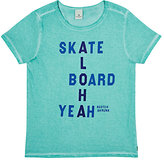 "Scotch Shrunk Skateboard/Aloha"" Cotton T-Shirt"