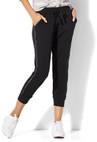 New York & Co. Rhinestone-Trim Cropped Jogger Pant
