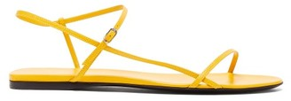 The Row Bare Leather Sandals - Womens - Yellow