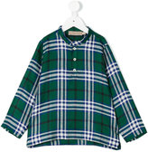 La Stupenderia checked henley shirt - kids - Linen/Flax - 4 yrs