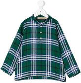 La Stupenderia checked henley shirt