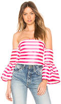 Asilio Bronx Stripe Off Shoulder Top