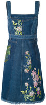 Alexander McQueen floral embroidered denim dress - women - Cotton - 40