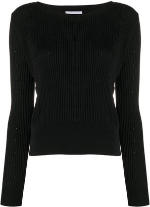 Patrizia Pepe Floral-Pattern Ribbed Jumper