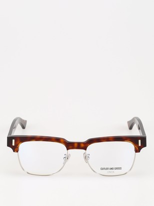Cutler & Gross Squared Half-Rim Glasses