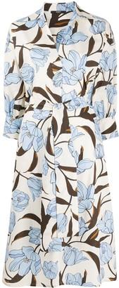 Seventy Floral Print Shirt Dress