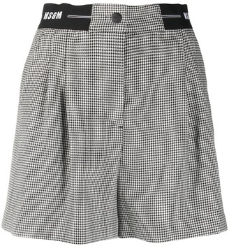 MSGM Houndstooth Print Shorts