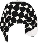 Junya Watanabe Marimekko Asymmetric Polka-dot Cotton-canvas Top - Black