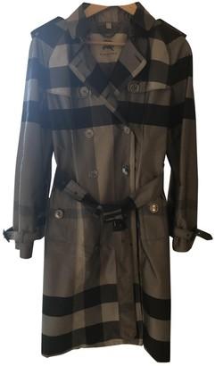 Burberry Grey Silk Trench Coat for Women