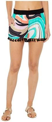 Trina Turk Nazare Tassel Shorts (Multi) Women's Swimwear