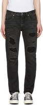 Helmut Lang Black Mr 87 Destroy Jeans