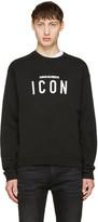 DSQUARED2 Black Icon Logo Sweatshirt