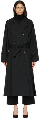 Totême Black Techno Trench Coat