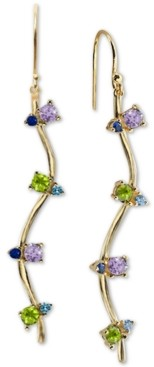 Argentovivo Cubic Zirconia Drop Earrings in 18k Gold-Plated Sterling Silver