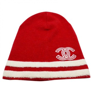 Chanel Red Cashmere Hats