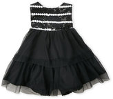 princess faith (Infant Girls) Two-Piece Sequin Embellished Tiered Tulle Dress & Bloomers Set