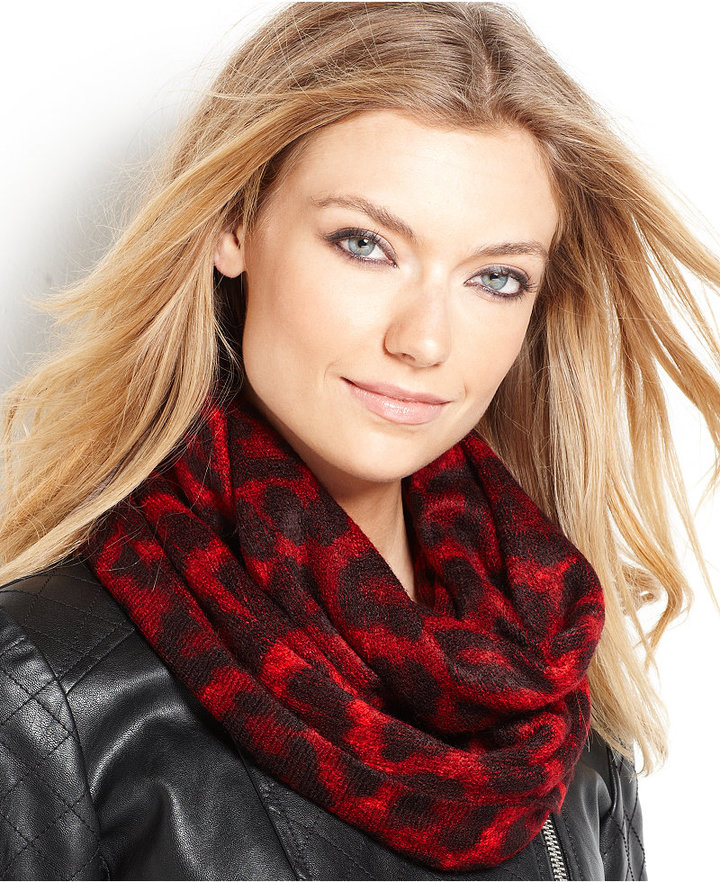 MICHAEL Michael Kors Double Printed Animal Infinity Scarf