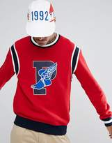 Polo Ralph Lauren Stadium Crew Sweat Limited Edition Winged P In Red