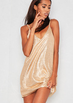 Missy Empire Suri Gold Slip Dress
