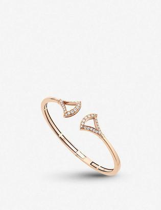 Bvlgari Divas Dream 18ct rose-gold and pave diamond bracelet