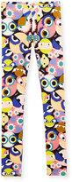 Fendi Stretch Jersey Monster Leggings, Multicolor, Size 10-12+