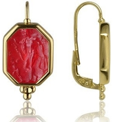 Tagliamonte Classics Collection - Red 18K Gold Drop Earrings