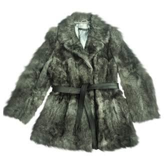 Atos Lombardini Grey Astrakhan Coats
