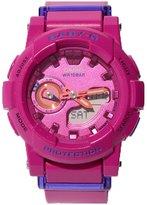 Casio Women's Baby G BGA185FS-4A Rubber Quartz Sport Watch