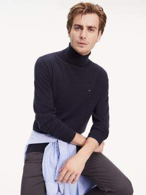 Tommy Hilfiger Organic Cotton-Silk Roll Neck Jumper