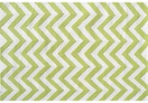 The Well Appointed House Childs Chevron Hook Rug in Lime