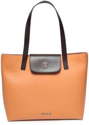 Roberto Cavalli Two-tone Leather Tote