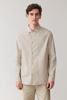 Cos Camp-Collar Cotton Shirt