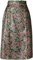 Dolce & Gabbana metallic midi skirt