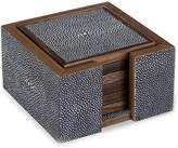 Regina-Andrew Design Set of 6 Faux-Shagreen Coasters - Charcoal - Regina Andrew Design