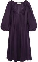The Great The Dreamer Silk Crepe De Chine Dress - Grape