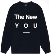 Wood Wood Hester New You Dark Blue Graphic Logo Print Sweatshirt