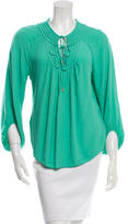 Diane von Furstenberg New Acquilina Long Sleeve Blouse