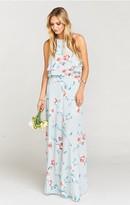 MUMU Princess Ariel Ballgown Maxi Skirt ~ Flower Hour Sky